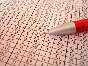 statistics and pen